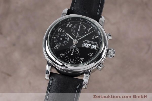 Used luxury watch Montblanc Meisterstück chronograph steel automatic Kal. 4810501 ETA 7750 Ref. 7016  | 153117 04
