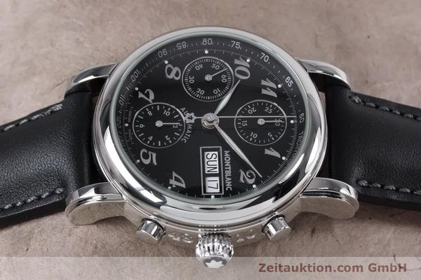Used luxury watch Montblanc Meisterstück chronograph steel automatic Kal. 4810501 ETA 7750 Ref. 7016  | 153117 05