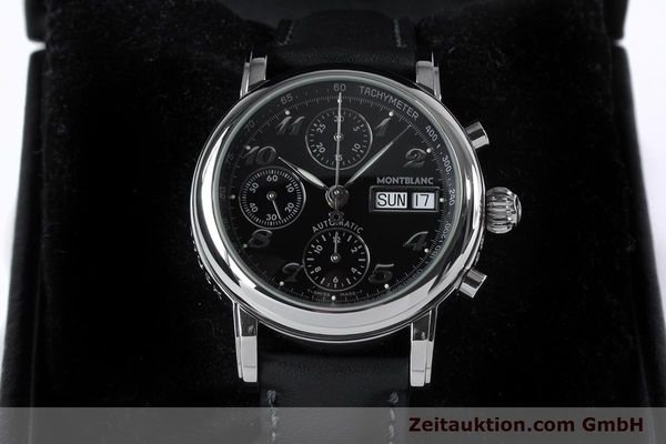 Used luxury watch Montblanc Meisterstück chronograph steel automatic Kal. 4810501 ETA 7750 Ref. 7016  | 153117 07