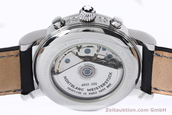 Used luxury watch Montblanc Meisterstück chronograph steel automatic Kal. 4810501 ETA 7750 Ref. 7016  | 153117 10