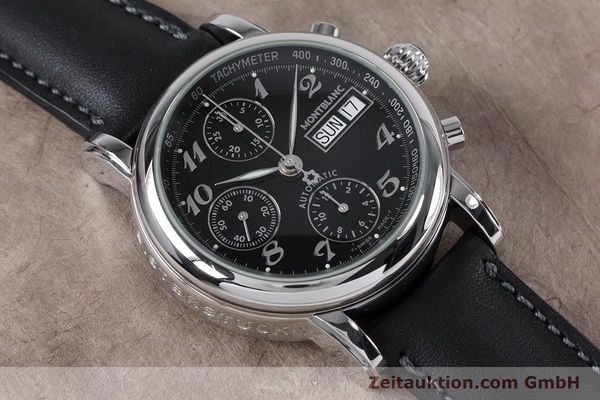Used luxury watch Montblanc Meisterstück chronograph steel automatic Kal. 4810501 ETA 7750 Ref. 7016  | 153117 13