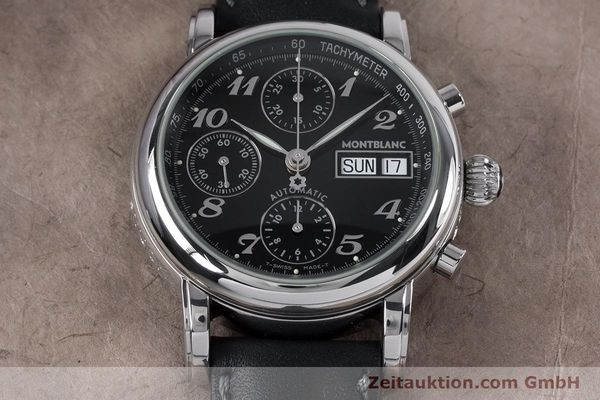 Used luxury watch Montblanc Meisterstück chronograph steel automatic Kal. 4810501 ETA 7750 Ref. 7016  | 153117 14