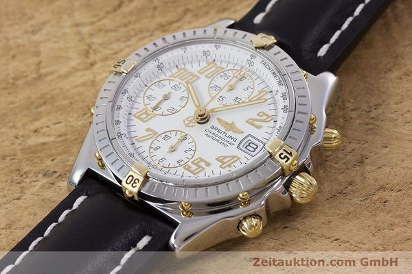 Used luxury watch Breitling Chronomat chronograph steel / gold automatic Kal. B13 ETA 7750 Ref. B13050.1  | 153127 01