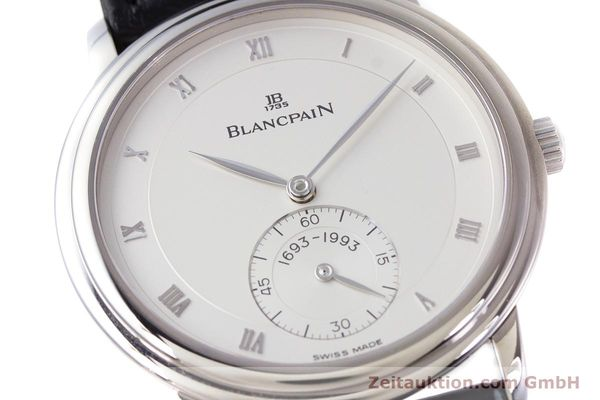 Used luxury watch Blancpain Villeret 18 ct white gold manual winding Kal. 64-1 F. Piguet LIMITED EDITION | 153150 02