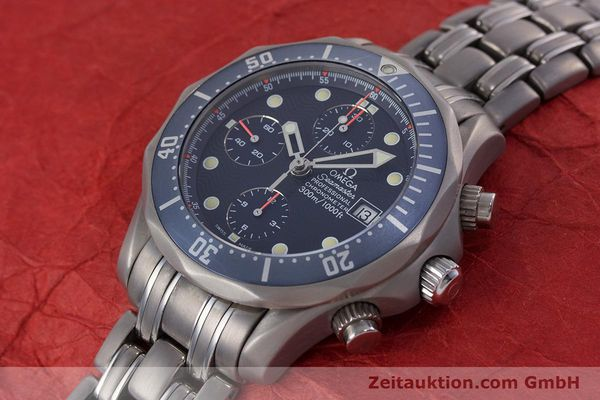 Used luxury watch Omega Seamaster chronograph titanium automatic Kal. 1154 ETA 7750  | 153160 01