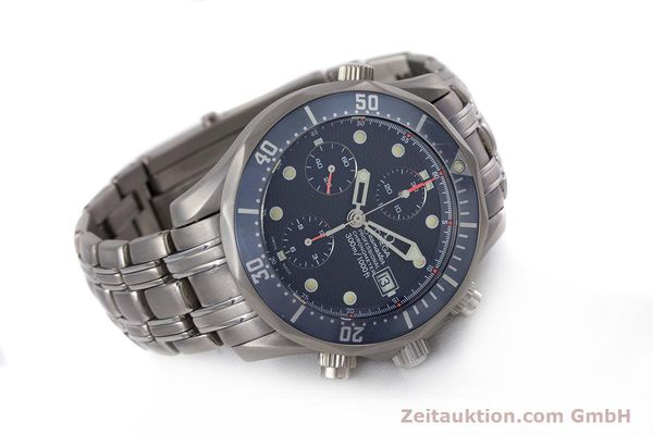 Used luxury watch Omega Seamaster chronograph titanium automatic Kal. 1154 ETA 7750  | 153160 03