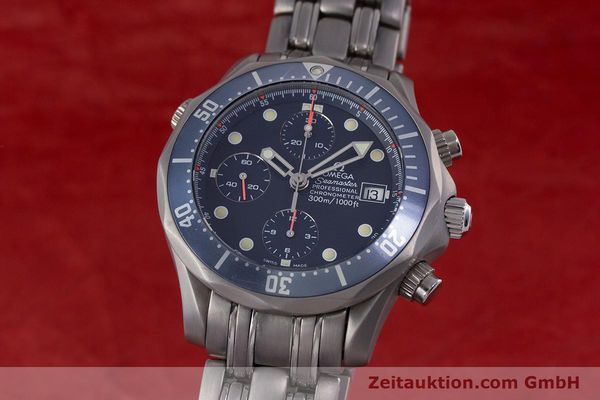 Used luxury watch Omega Seamaster chronograph titanium automatic Kal. 1154 ETA 7750  | 153160 04
