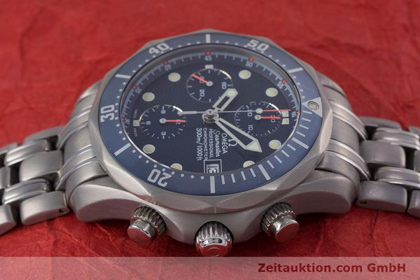Used luxury watch Omega Seamaster chronograph titanium automatic Kal. 1154 ETA 7750  | 153160 05