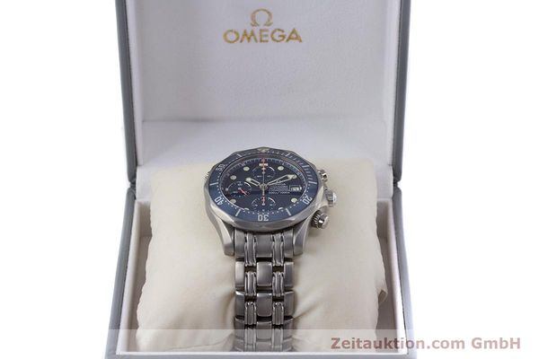 Used luxury watch Omega Seamaster chronograph titanium automatic Kal. 1154 ETA 7750  | 153160 07