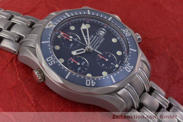 Used luxury watch Omega Seamaster chronograph titanium automatic Kal. 1154 ETA 7750  | 153160 15