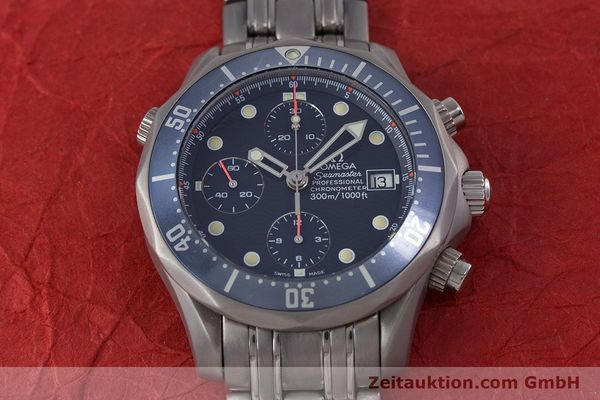Used luxury watch Omega Seamaster chronograph titanium automatic Kal. 1154 ETA 7750  | 153160 16