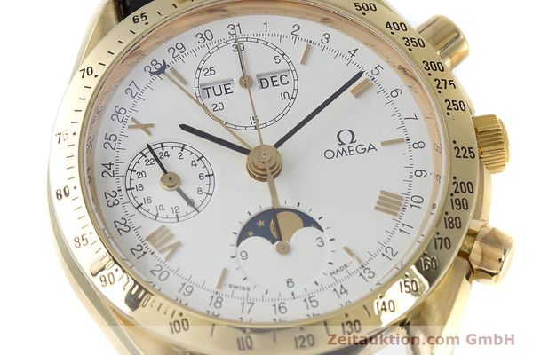 Used luxury watch Omega Speedmaster chronograph 18 ct gold automatic Kal. 1150 Val. 7751  | 153162 02