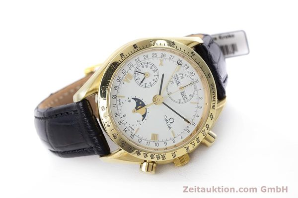 Used luxury watch Omega Speedmaster chronograph 18 ct gold automatic Kal. 1150 Val. 7751  | 153162 03