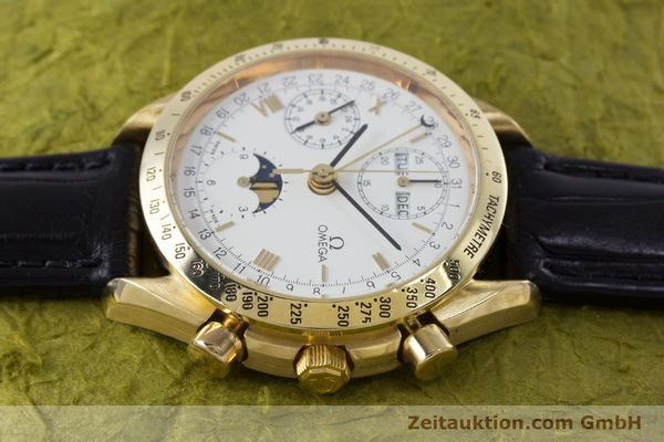 Used luxury watch Omega Speedmaster chronograph 18 ct gold automatic Kal. 1150 Val. 7751  | 153162 05