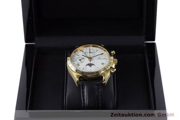 Used luxury watch Omega Speedmaster chronograph 18 ct gold automatic Kal. 1150 Val. 7751  | 153162 07