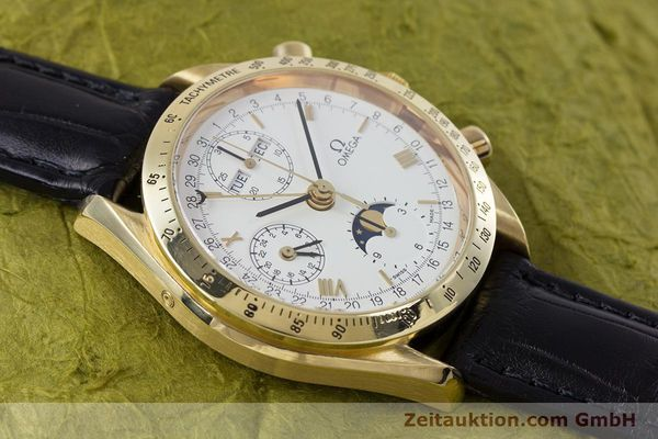 Used luxury watch Omega Speedmaster chronograph 18 ct gold automatic Kal. 1150 Val. 7751  | 153162 13