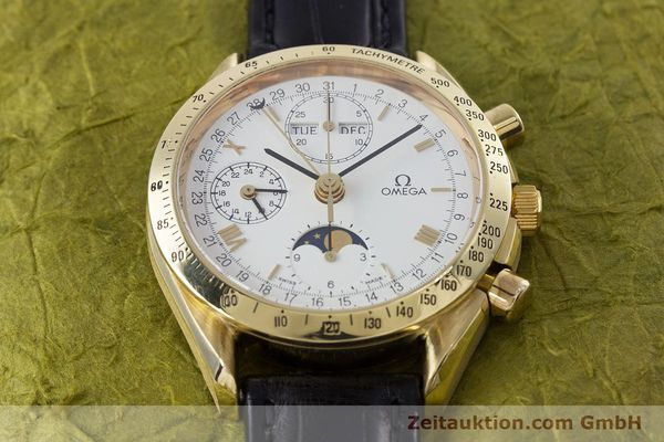 Used luxury watch Omega Speedmaster chronograph 18 ct gold automatic Kal. 1150 Val. 7751  | 153162 14