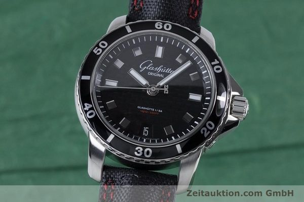 Used luxury watch Glashütte Sport Evolution  steel automatic Kal. GUB 39 Ref. 39-21-06-03-03  | 153163 04