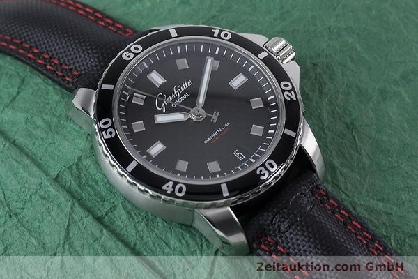 Used luxury watch Glashütte Sport Evolution  steel automatic Kal. GUB 39 Ref. 39-21-06-03-03  | 153163 15