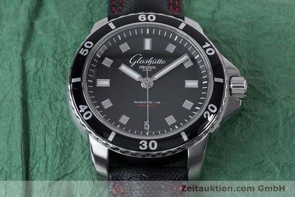Used luxury watch Glashütte Sport Evolution  steel automatic Kal. GUB 39 Ref. 39-21-06-03-03  | 153163 16