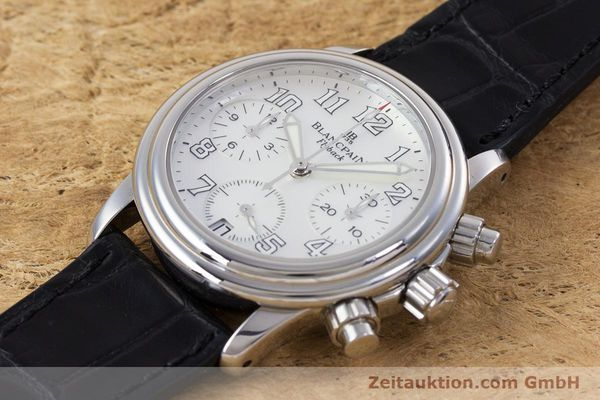 Used luxury watch Blancpain Leman chronograph steel automatic Kal. F185  | 153182 01