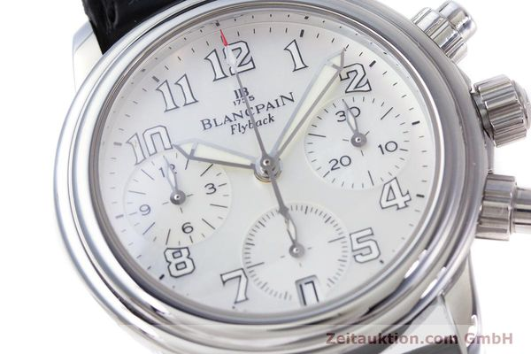 Used luxury watch Blancpain Leman chronograph steel automatic Kal. F185  | 153182 02