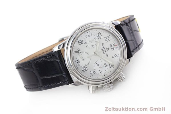 Used luxury watch Blancpain Leman chronograph steel automatic Kal. F185  | 153182 03