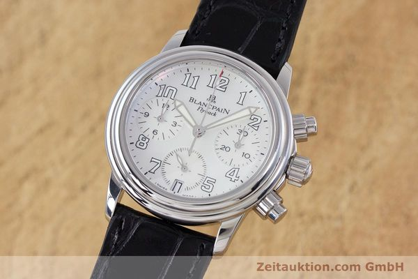 Used luxury watch Blancpain Leman chronograph steel automatic Kal. F185  | 153182 04