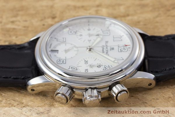 Used luxury watch Blancpain Leman chronograph steel automatic Kal. F185  | 153182 05