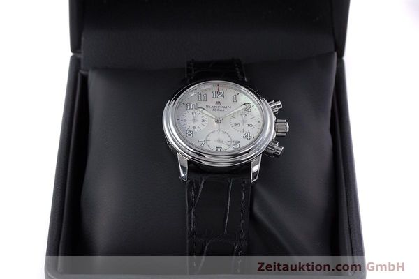Used luxury watch Blancpain Leman chronograph steel automatic Kal. F185  | 153182 07