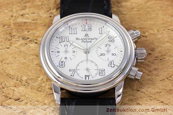 Used luxury watch Blancpain Leman chronograph steel automatic Kal. F185  | 153182 14