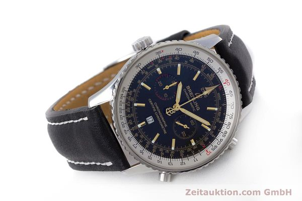 Used luxury watch Breitling Chrono-Matic chronograph steel automatic Kal. B41 ETA 2892A2 Ref. A41350 LIMITED EDITION | 153194 03