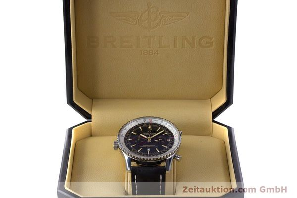 Used luxury watch Breitling Chrono-Matic chronograph steel automatic Kal. B41 ETA 2892A2 Ref. A41350 LIMITED EDITION | 153194 07