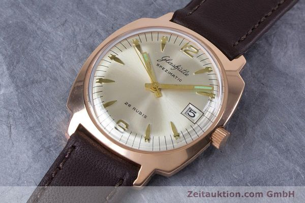 Used luxury watch Glashütte Spezimatic gold-plated automatic Kal. 75  | 153243 01