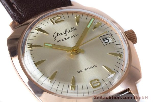 Used luxury watch Glashütte Spezimatic gold-plated automatic Kal. 75  | 153243 02