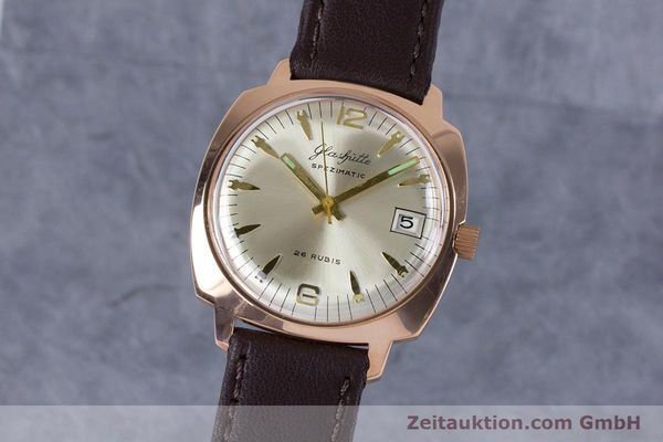Used luxury watch Glashütte Spezimatic gold-plated automatic Kal. 75  | 153243 04