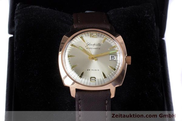 Used luxury watch Glashütte Spezimatic gold-plated automatic Kal. 75  | 153243 07