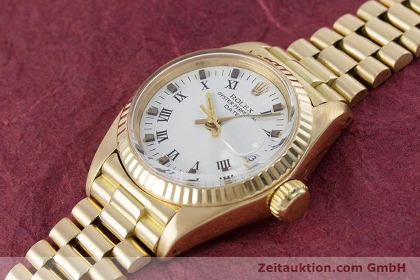 Used luxury watch Rolex Lady Date 18 ct gold automatic Kal. 2030 Ref. 6917  | 153244 01