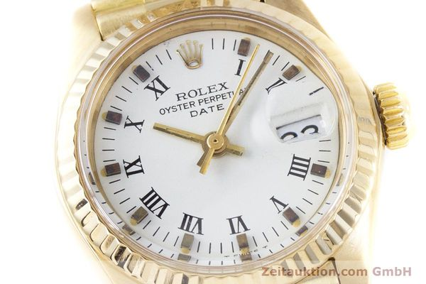 Used luxury watch Rolex Lady Date 18 ct gold automatic Kal. 2030 Ref. 6917  | 153244 02