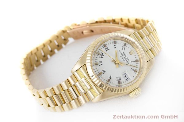 Used luxury watch Rolex Lady Date 18 ct gold automatic Kal. 2030 Ref. 6917  | 153244 03