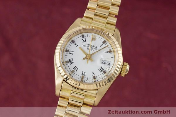 Used luxury watch Rolex Lady Date 18 ct gold automatic Kal. 2030 Ref. 6917  | 153244 04