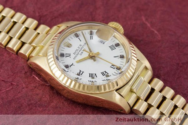 Used luxury watch Rolex Lady Date 18 ct gold automatic Kal. 2030 Ref. 6917  | 153244 15