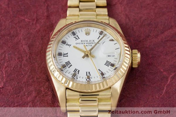 Used luxury watch Rolex Lady Date 18 ct gold automatic Kal. 2030 Ref. 6917  | 153244 16