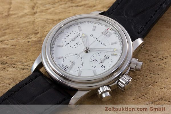 Used luxury watch Blancpain Leman chronograph steel automatic Kal. 1185  | 153255 01