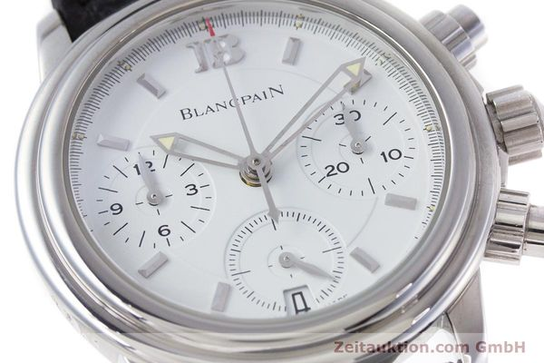 Used luxury watch Blancpain Leman chronograph steel automatic Kal. 1185  | 153255 02