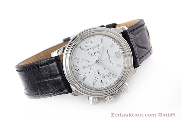 Used luxury watch Blancpain Leman chronograph steel automatic Kal. 1185  | 153255 03