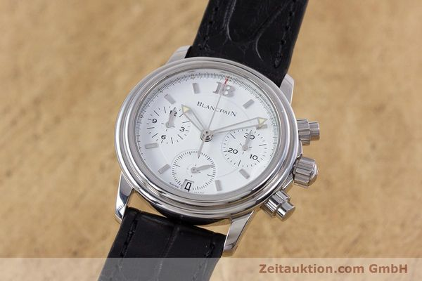 Used luxury watch Blancpain Leman chronograph steel automatic Kal. 1185  | 153255 04