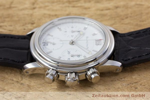 Used luxury watch Blancpain Leman chronograph steel automatic Kal. 1185  | 153255 05