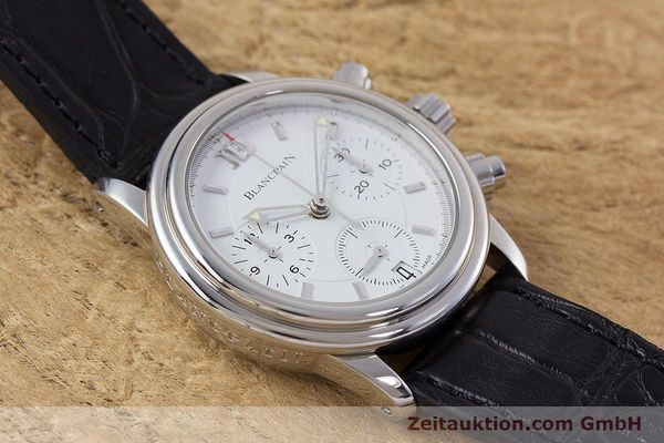 Used luxury watch Blancpain Leman chronograph steel automatic Kal. 1185  | 153255 13
