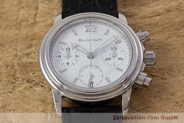 Used luxury watch Blancpain Leman chronograph steel automatic Kal. 1185  | 153255 14